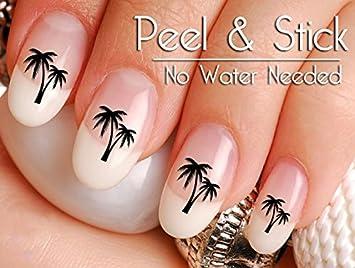 Amazon 40 Palm Tree Nail Art Decal Sticker Set Beauty