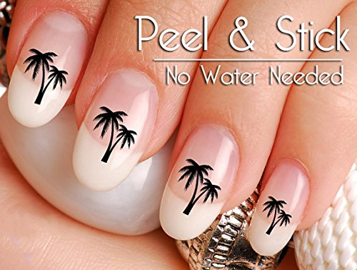 40 Palm Tree Nail Art Decal Sticker Set - Palm Tree Nail Art