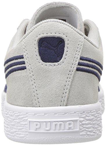 Puma Suede Classsic Badge Ps - Zapatillas de Piel para niño morado cabernet Gray Violet-peacoat