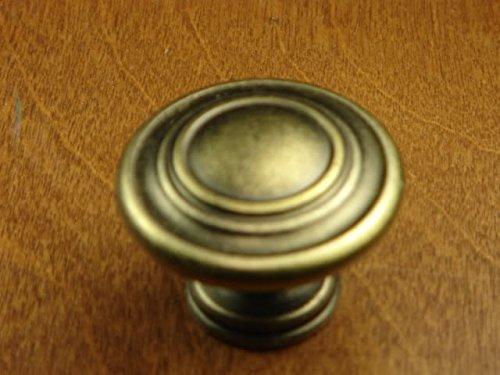 Sonoma Cabinet Hardware Nantucket Knob Antique Brass NEW Kitchen Custom Solid Knob Knobs (Tall Knob Brass)