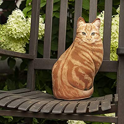 Fiddler's Elbow Orange Tabby Cat Door Stop, Decorative Door Stopper, Interior, Unique Doorstop, Cat Doorstop