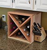 Cheap Creekside 12 Bottle Wine Cube, 12″ Deep, Redwood