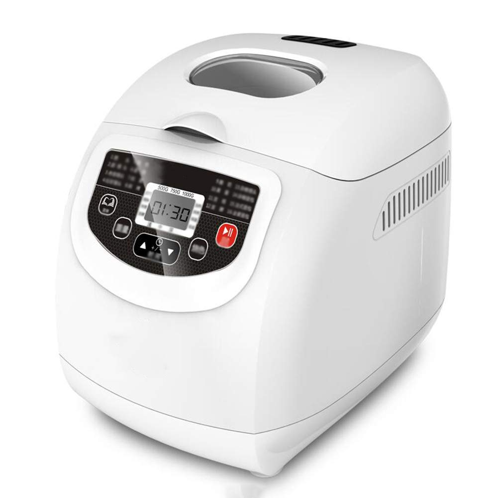 Breadmakers Food Slicers Bread Maker Bread Machine Bread Making Household Fully Automatic Multifunction Intelligent Yogurt Cake Dough Mixer GAOFENG (color : White)