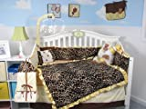 SoHo Golden Giraffe Minky Baby Crib Nursery Bedding Set 13 pcs included Diaper Bag with Changing Pad and Bottle Case ** Thanksgivinig Special ! **, Baby & Kids Zone