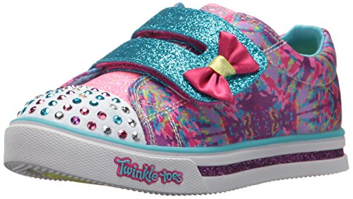 Skechers Kids Girls Sparkle Glitz Lil Dazzle Sneaker Hot Pink Multi 9 Medium Us Toddler