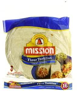 Mission, Large Burritos Size, Flour Tortillas, 16 Count