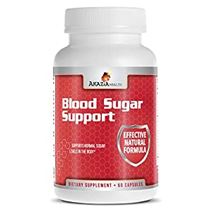 Blood Sugar Supplement with Cinnamon, Bitter Melon, Banaba Extract, Vitamins & Minerals To Support Blood Sugar Control - 60 Caps- 100% Money Back Guarantee