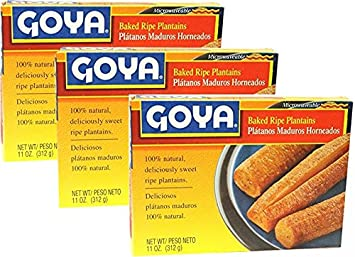 Goya Baked Ripe Plantains 11 Oz Pack of 3: Amazon.com ...