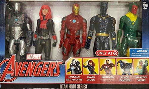 Marvel Avengers Titan Hero Series Exclusive 5 Figure Set (Avengers Titan Hero Series 12 Figure Black Widow)