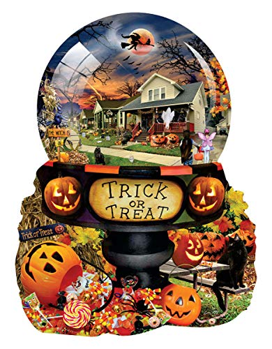 Halloween Globe 1000 pc Shaped Jigsaw Puzzle by SunsOut -