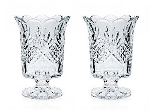 GODINGER Crystal Dublin Hurricane Vase, 2-ct. Set ()