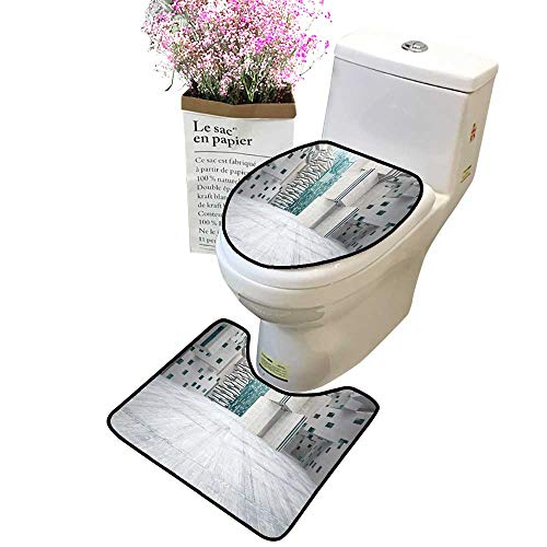 2-Piece Bathroom Toilet Accessory Set backgroun in The Form high Rise Builds Made Concrete Toilet Mat Set Bathroom Accessories