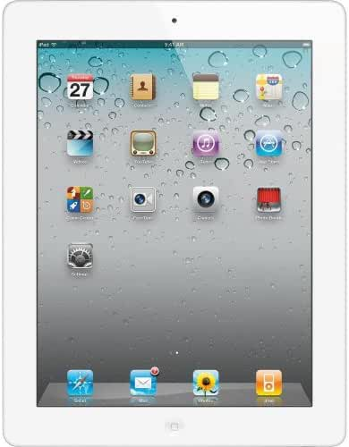 Apple iPad 2 MC980LL/A Tablet (32GB, Wifi, White) 2nd Generation (Certified Refurbished)