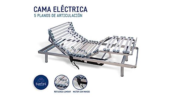 Cama / Somier ARTICULADO a MOTOR con MANDO | Tubo de Acero ...