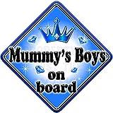 GEM JEWEL MUMMYS GIRL Baby on Board Car Window Sign