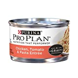 Pro Plan Adult Chicken, Tomato & Pasta Entree In Gravy Canned Cat Food 24 – 3oz Cans Review