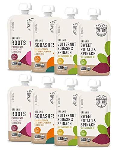 Serenity Kids Baby Food, Organic Savory Veggies Variety Pack