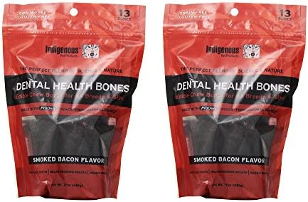 Set of 2 Indigenous Dental Health Bones Smoked Bacon Flavor