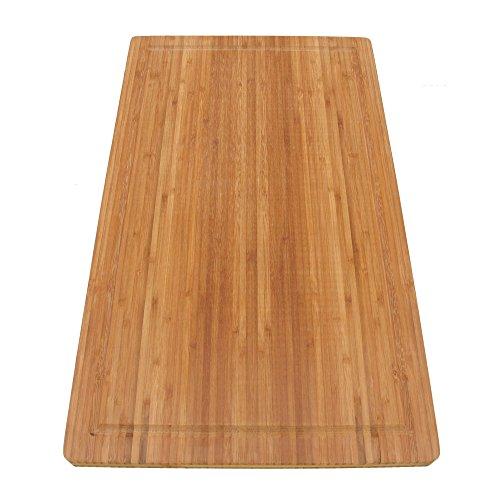 BambooMN Brand Jenn Air Bamboo Range Burner Cutting Board, New Vertical Cut, Large (20.5
