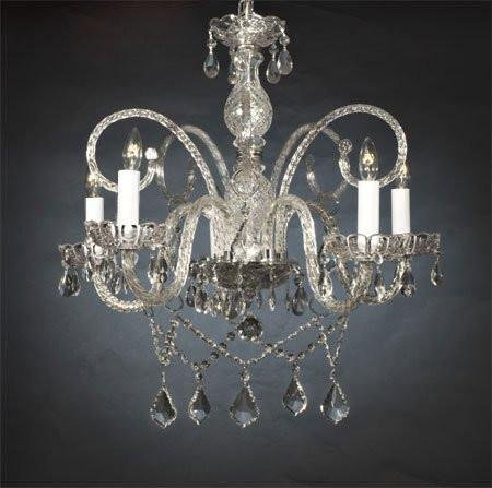 "Chandelier Made with Swarovski Crystal! New! Authentic All Crystal Chandelier Chandeliers H25"" X W24"""