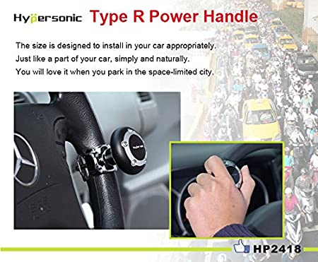 Silver Hypersonic Vehicle Power Handle Car Steering Wheel Spinner Accessory Knob Universal Fit for Car