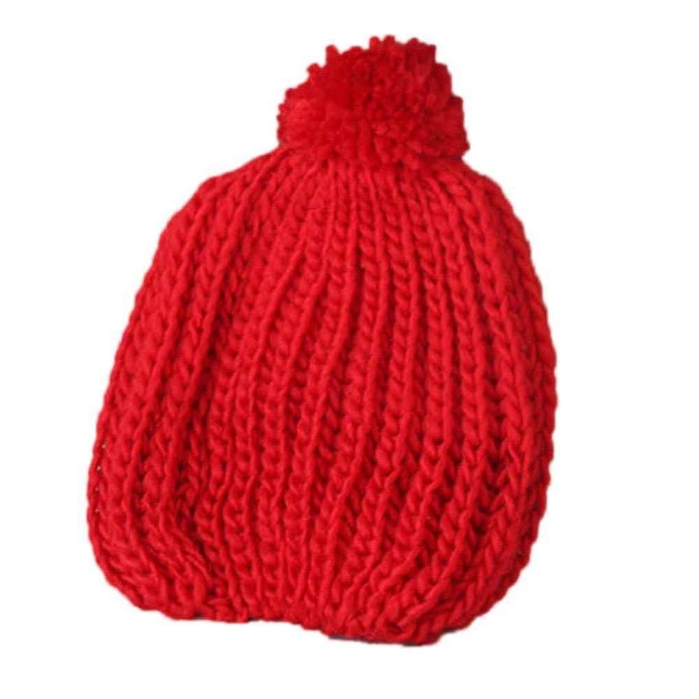 Voberry HAT ベビーガールズ ユニセックスベビー  レッド B0776VD44S