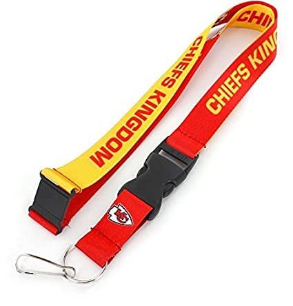 91335a49 aminco NFL Kansas City Chiefs Slogan Lanyard