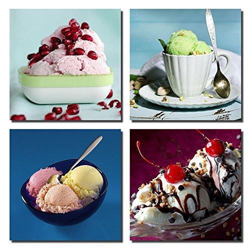Gardenia - Colorful Food Sweet Ice Cream Canvas Prints