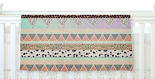 KESS InHouse Vasare Nar 'Animal Print Tribal' Multicolor Pastel Fleece Baby Blanket, 40' x 30'