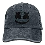 LETI LISW Cool Marshmello FaceWashedDad Hat Adult Unisex Adjustable Hat