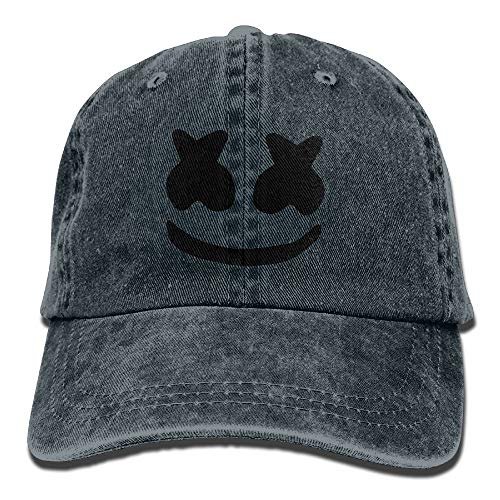 LETI LISW Cool Marshmello FaceWashedDad Hat Adult Unisex Adjustable Hat by LETI LISW