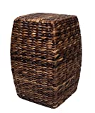 BirdRock Home Seagrass Accent Stool | Made of Hand Woven Seagrass | 21 inch Stool | Various Colors