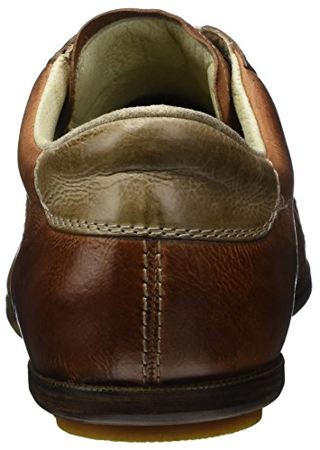 LLOYD Cognac Sneaker BARNEY Leder mit Braun Sand sportiver aus Herrenschuh Gummisohle r6n1Br