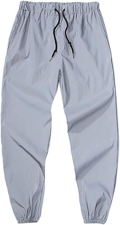 VPASS Pantalones para Hombre, Pantalones Reflexivo Casuales ...