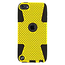 For Apple iPod touch 6 / 5 Case, VanGoddy iPod Touch 6 / 5 Dual Layer Case (Yellow)