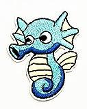 Nipitshop Patches Blue Seahorse Patch Seahorse Fish