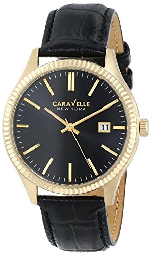 Caravelle Black Dial - Caravelle New York Men's 44B106 Analog Display Japanese Quartz Black Watch