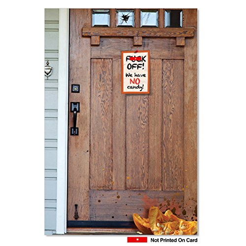 1815 We Have No Candy Funny Halloween Paper Card with Envelope