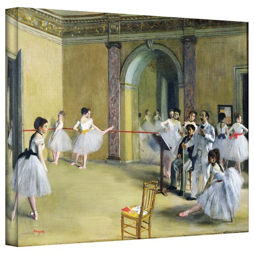 ArtWall 'The Dance Foyer at The Opera on The Rue Le Peletier' Gallery-Wrapped Canvas Artwork by Edgar Degas, 14 by 18-Inch