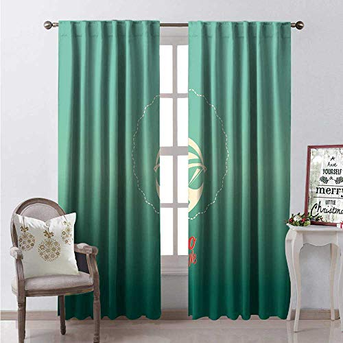 - Hengshu Afro Room Darkening Wide Curtains Woman of Color Cool Sunglasses Funky Disco Lifestyle Vintage Dance Style Decor Curtains by W108 x L108 Red Sea Green Cream