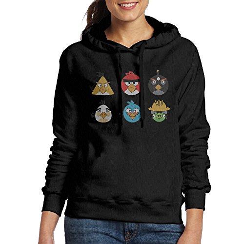MARC Women's Anger Bird Sweatshirt Black Size (Anger Costume Ideas)