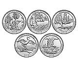 2018 P, D BU National Park Quarter 10 Coin Set