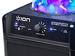 ION Audio Party Time | Portable Bluetooth Speaker System with Built-in Beat-Sync Light Show (8W)