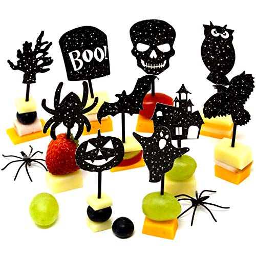 Youngever 200 Halloween Party Decorations - Halloween Party Supplies - 160 Halloween Cupcake Toppers Halloween Picks - 40 Halloween -