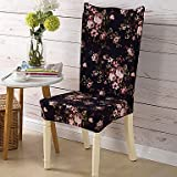 WWQY Form Fit Country Chair Cover , Polyester Fabric Type Slipcovers , black