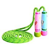 Cheap Tinyear Adjustable Jump Rope with Wooden Handle Cardio Skipping Exercise Rope for Kids, 102inch Length Suitable for School Game or Outdoor Activity