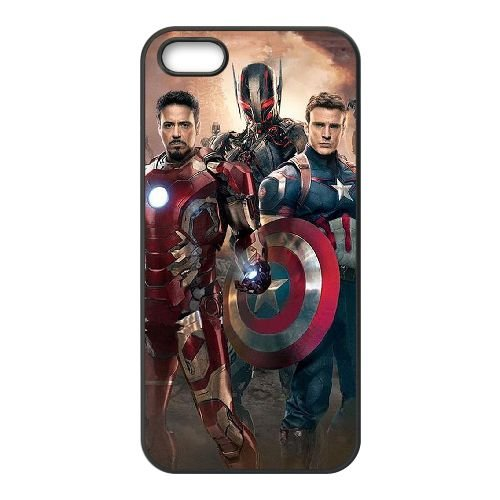 Avengers Age Of Ultron coque iPhone 5 5S Housse téléphone Noir de couverture de cas coque EBDOBCKCO12278