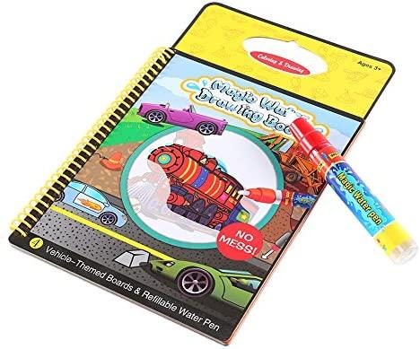 Niños Pintura Junta Dibujo infantil para colorear reutilizable grafiti Actividad magia de agua(vehículos)