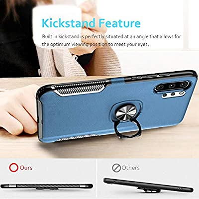 WATACHE Galaxy Note 10+ Plus/Pro/5G Case, Stylish Dual Layer Hard PC Back Case with 360 Degree Rotation Finger Ring Grip Kickstand, Magnetic Car Mount Feature for Galaxy Note 10+ Plus,Blue: Electronics