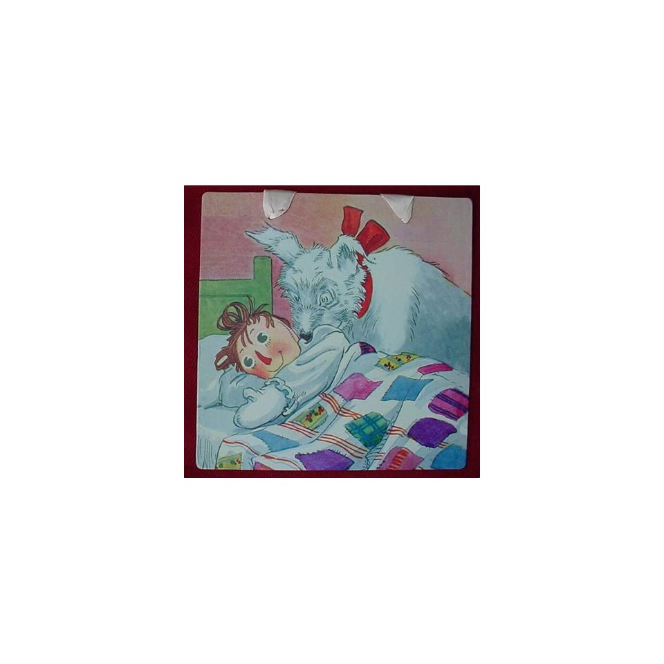 RAGGEDY ANN & RAGGEDY ARTHUR Wall Decor NURSERY ART CARD 8 1/2 Ready to Hang